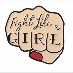 Jewelry - 🛑S A L E🛑 Fight Like A Girl Enamel Pin